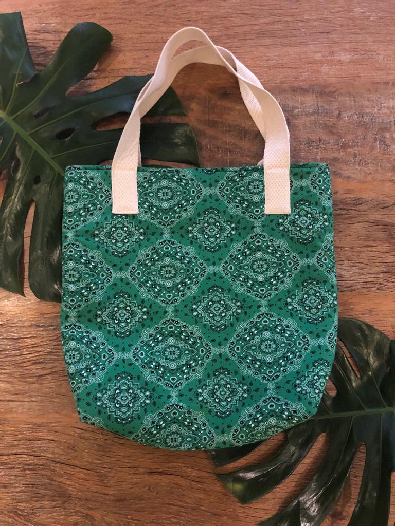 Bolsa de praia bandana Verde