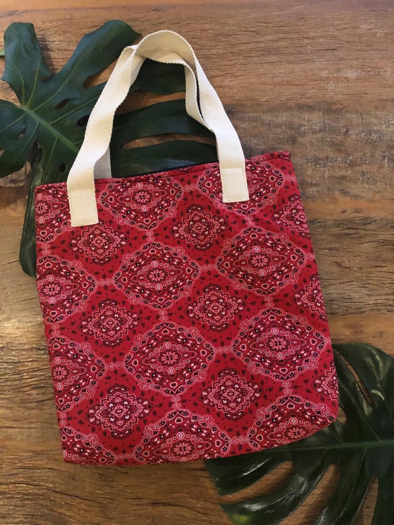Bolsa de praia bandana Vermelha