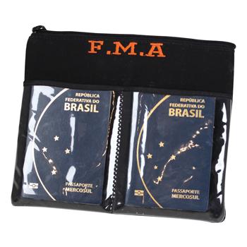 Porta passaporte personalizado